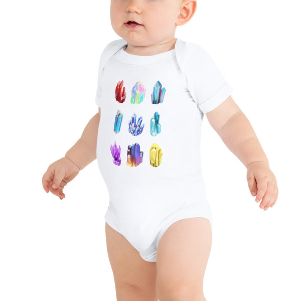 Crystal Illustrations Baby's Geology Onesie