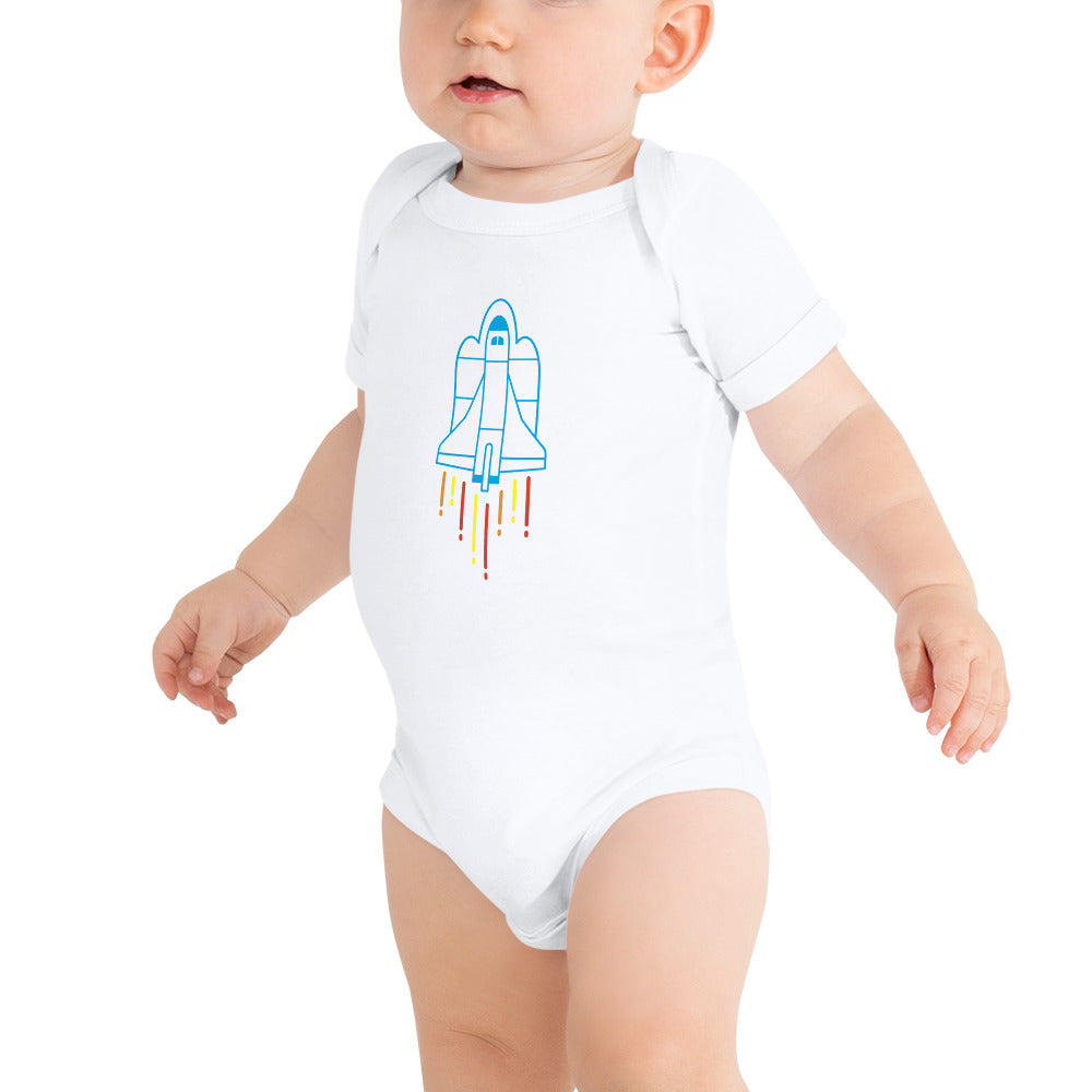 Space Rocket Launch Baby's Onesie
