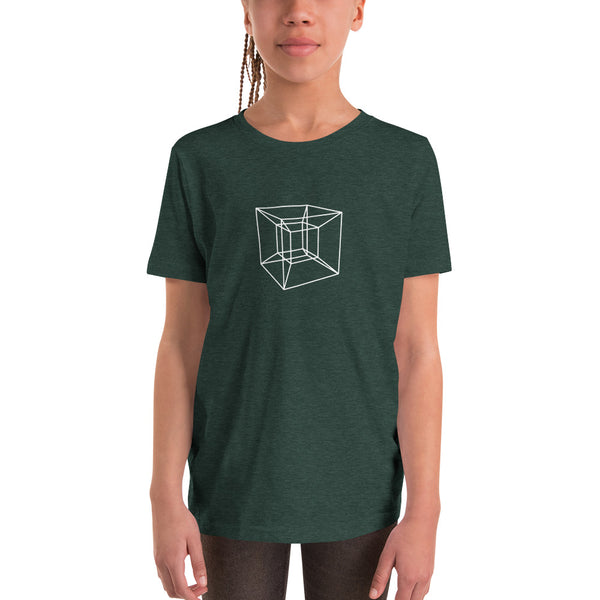 Tesseract 4D Shape Kids T-Shirt