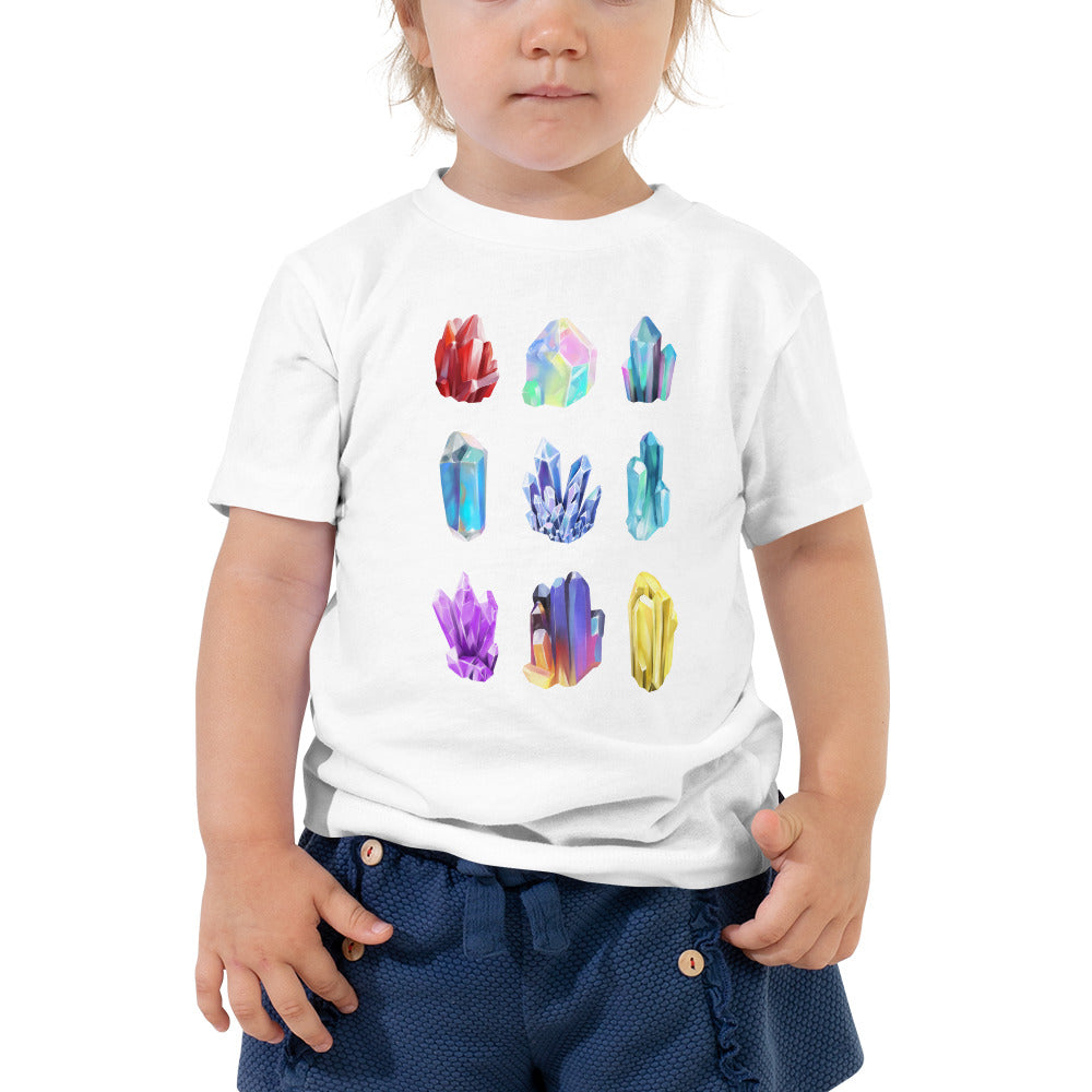 Crystal Illustrations Toddlers Geology T-Shirt