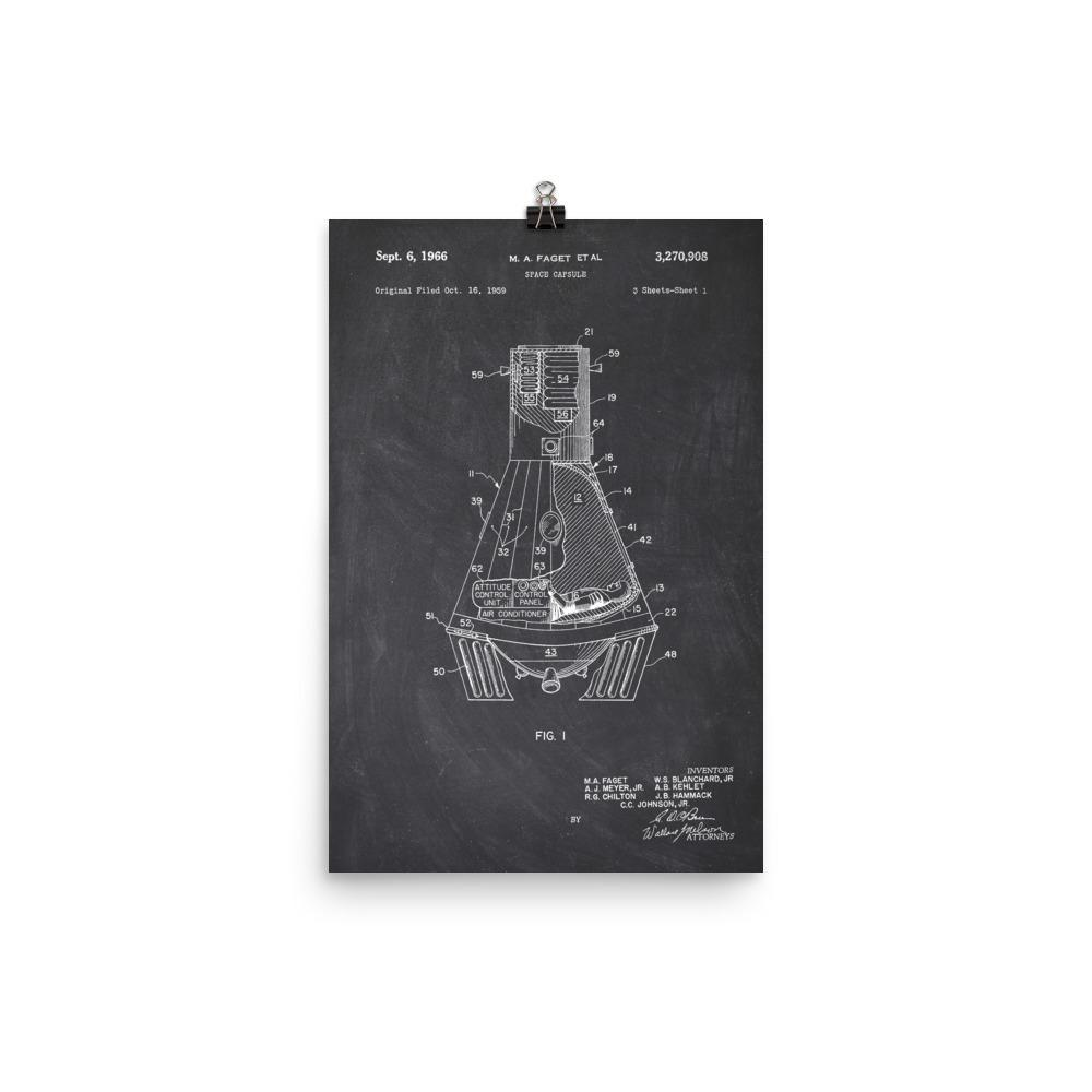 NASA Space Capsule Patent Poster SciDye Default Title