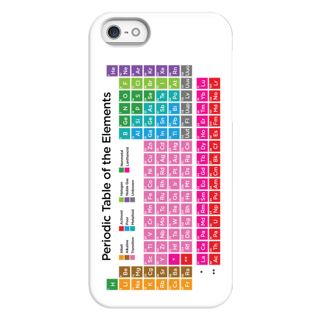 Periodic Table of the Elements Phone Case SciDye iPhone 5/5s/SE