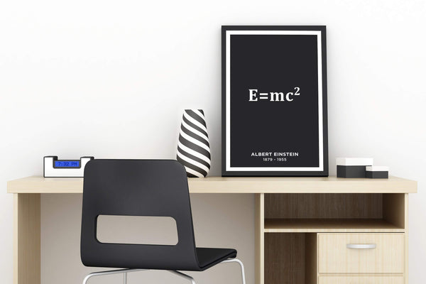 SciDye Albert Einstein E = mc2 Poster