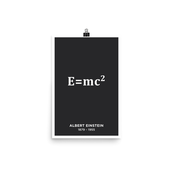 SciDye Albert Einstein E = mc2 Poster Default Title