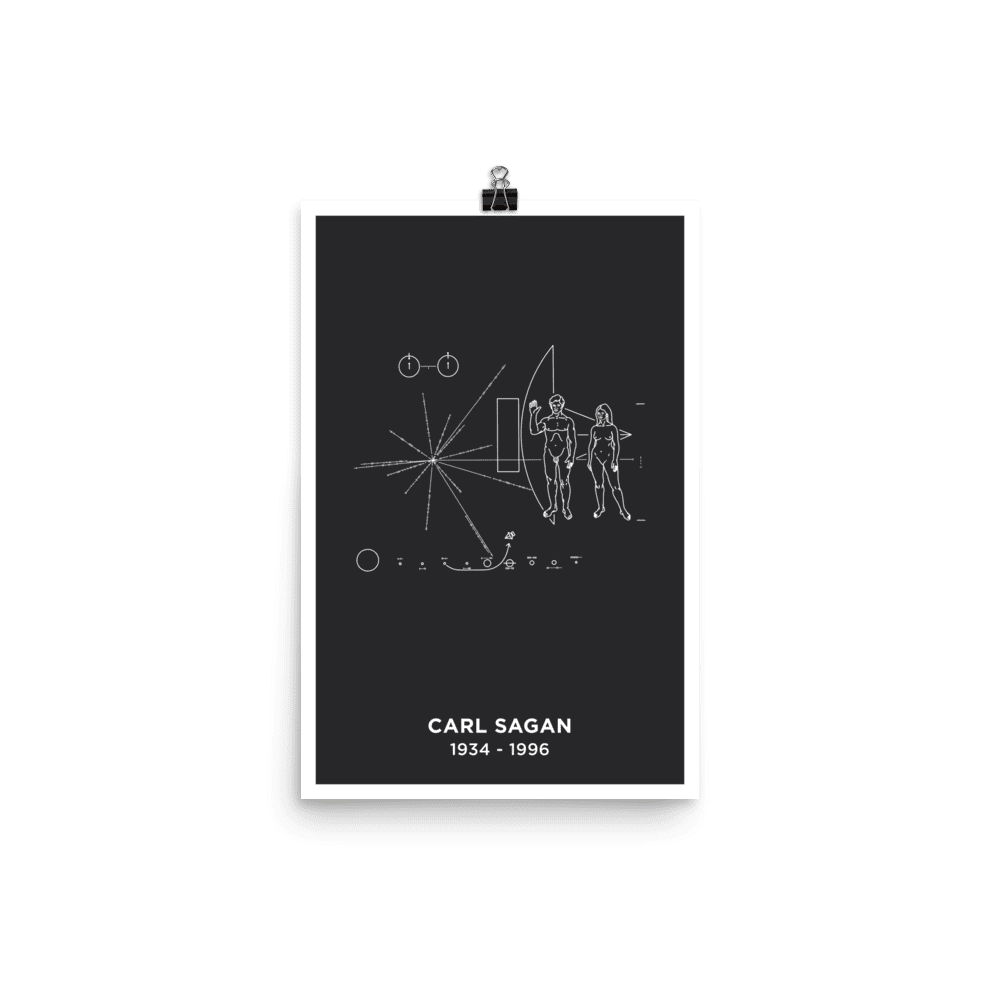 SciDye Carl Sagan Pioneer Plaque Poster Default Title