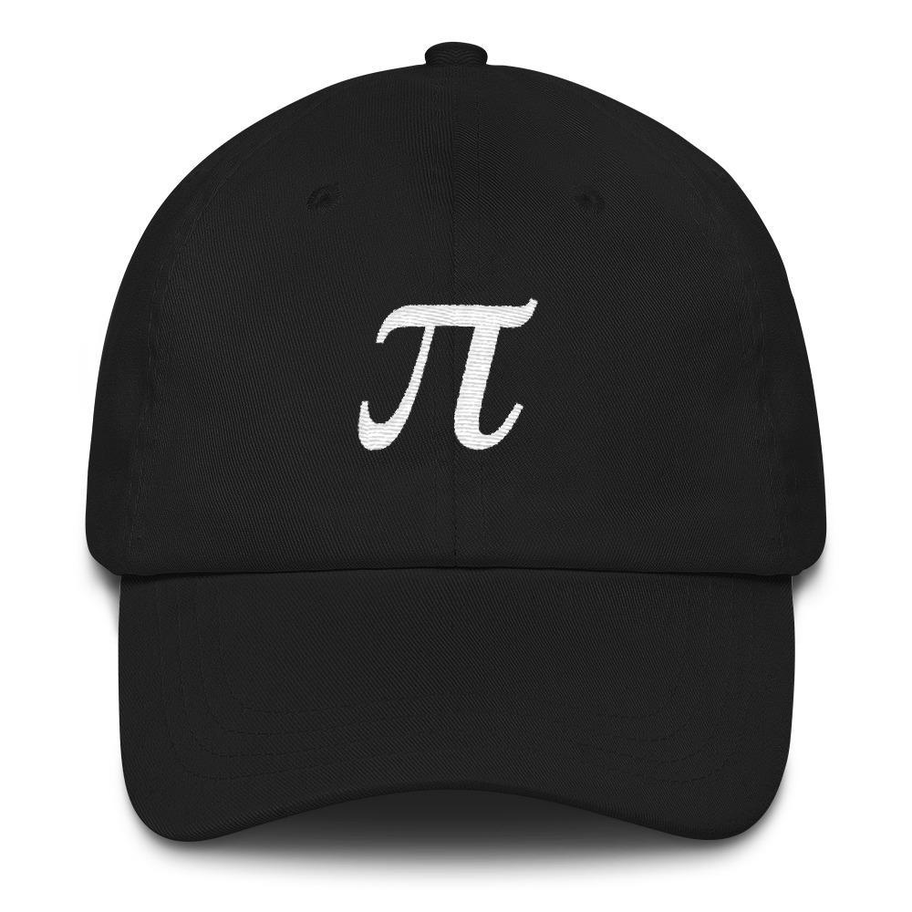 SciDye Embroidered Pie Symbol hat Black