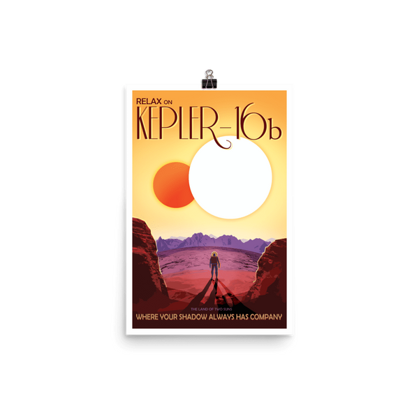 SciDye Kepler-16b NASA Visions of the Future Poster Default Title