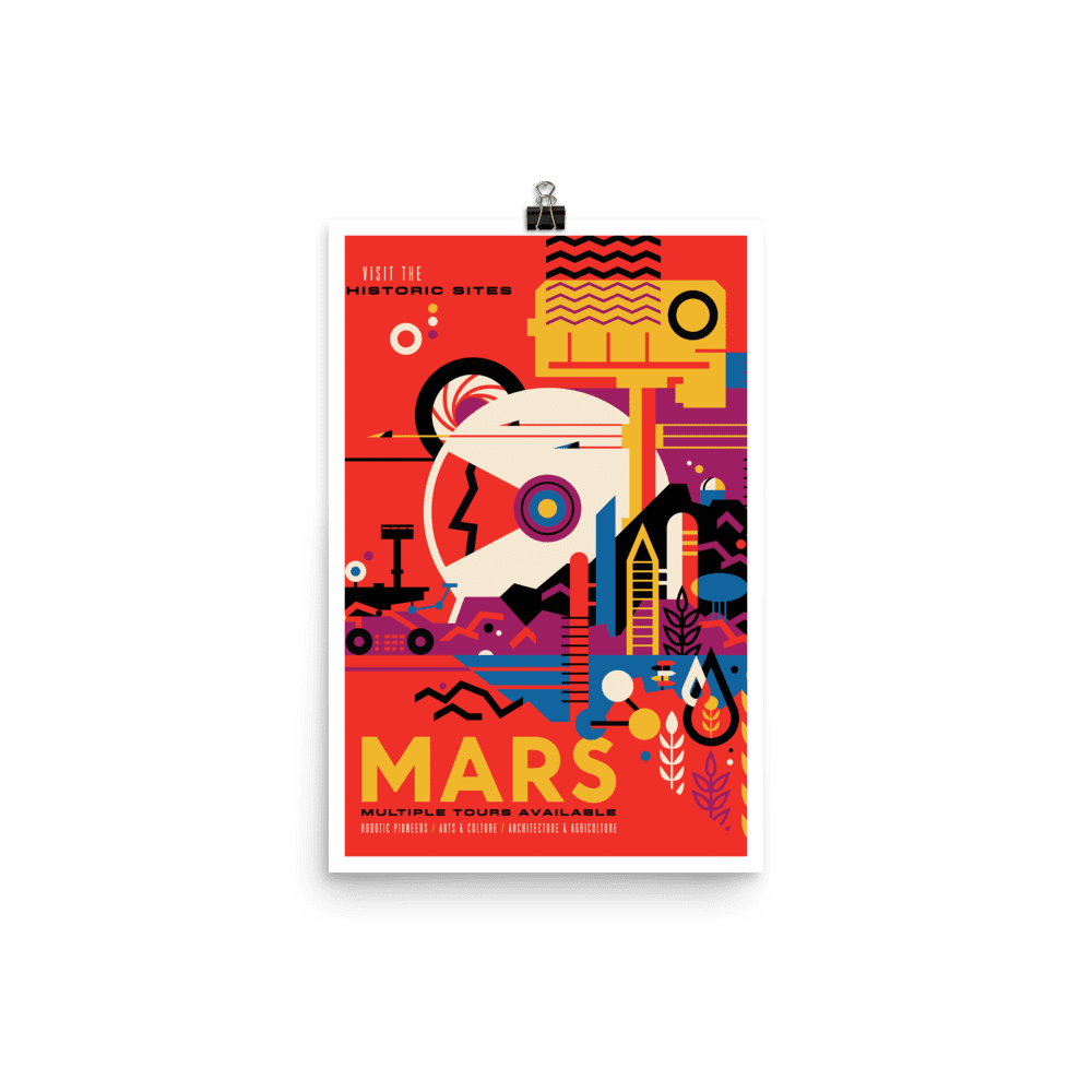 SciDye Mars NASA Visions of the Future Poster Default Title