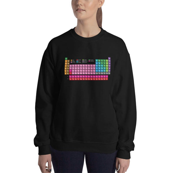 SciDye Periodic Table of Elements Sweatshirt Black / S