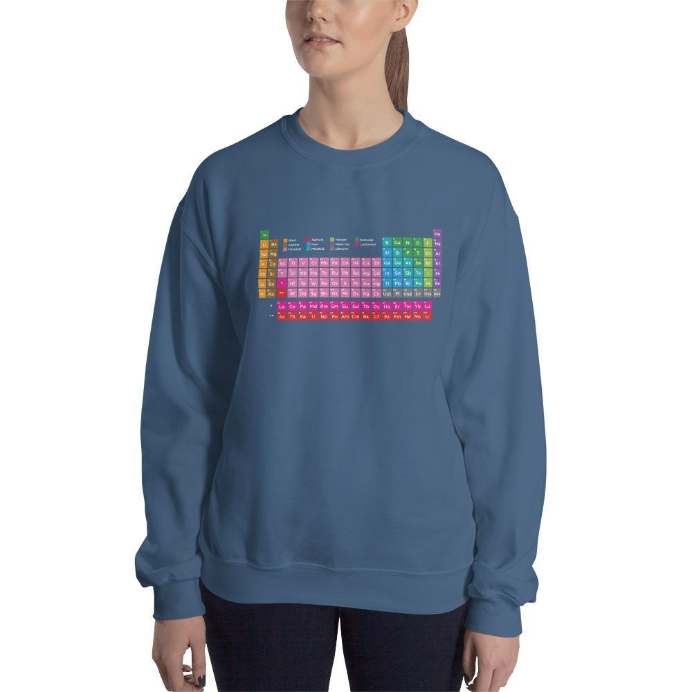 SciDye Periodic Table of Elements Sweatshirt Indigo Blue / S