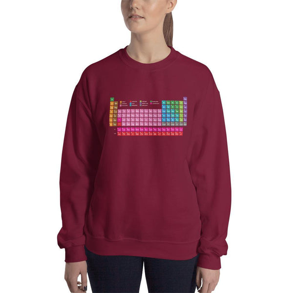SciDye Periodic Table of Elements Sweatshirt Maroon / S