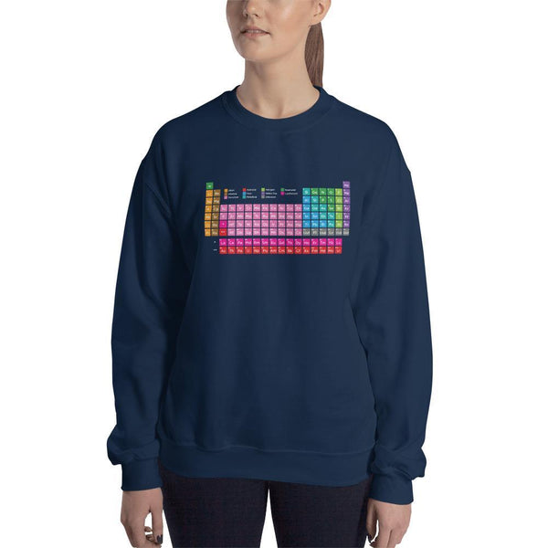 SciDye Periodic Table of Elements Sweatshirt Navy / S