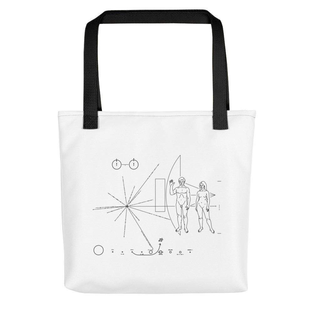 SciDye Pioneer Plaque Tote bag Default Title