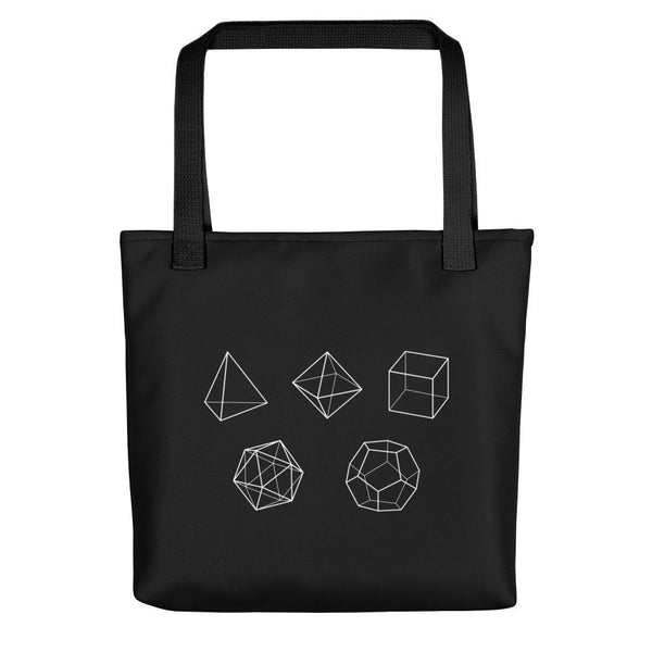 SciDye Platonic Solid Shapes Tote bag