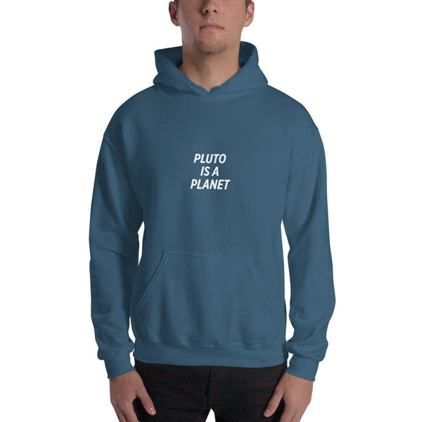 SciDye Pluto Is a Planet Hoodie Indigo Blue / S