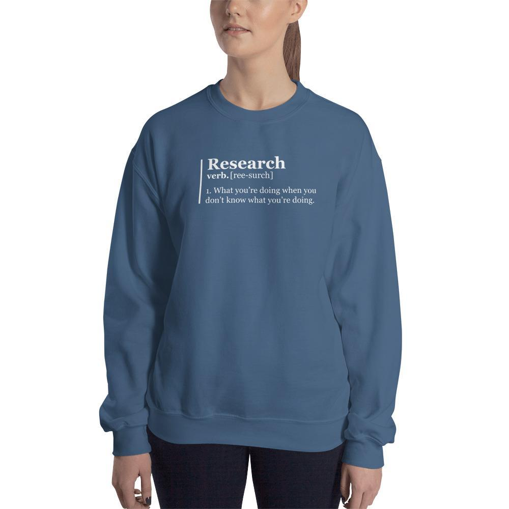 SciDye Research Definition Sweatshirt Indigo Blue / S