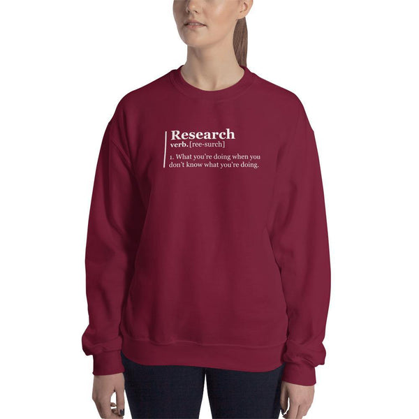 SciDye Research Definition Sweatshirt Maroon / S