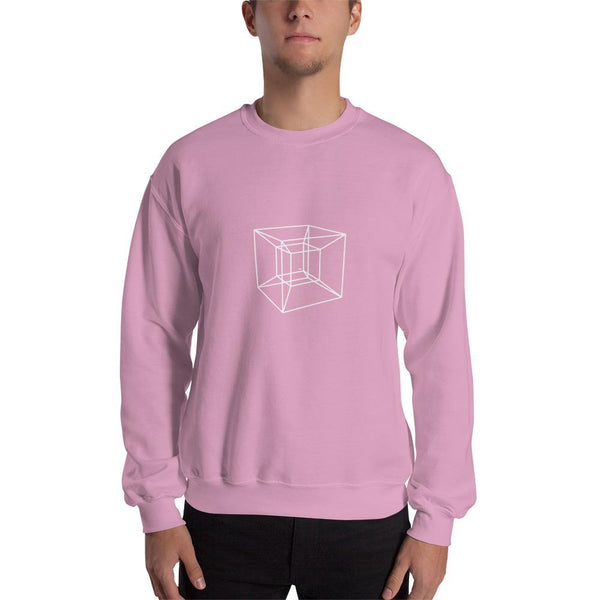 SciDye Tesseract 4D Sweatshirt Light Pink / S