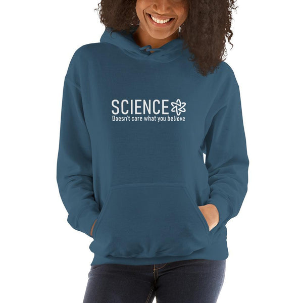 Science Doesn't Care What You Believe Hoodie SciDye Indigo Blue / S