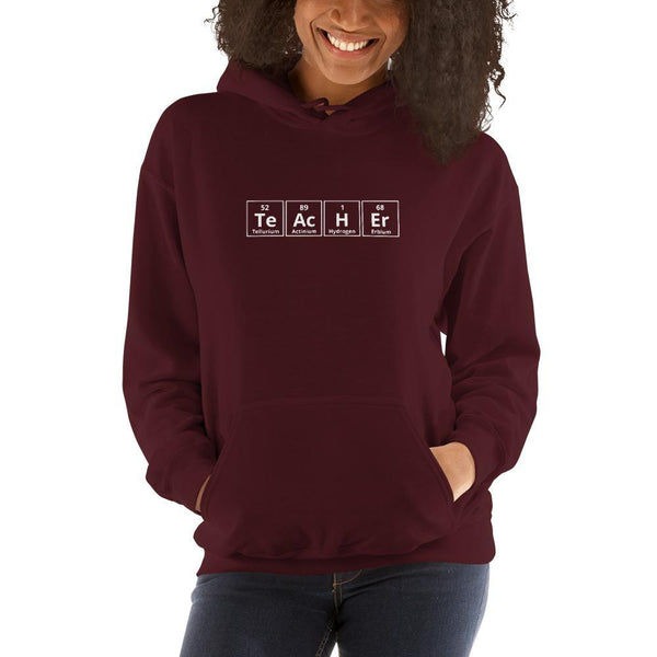 Science Teacher Elements Hoodie SciDye Maroon / S