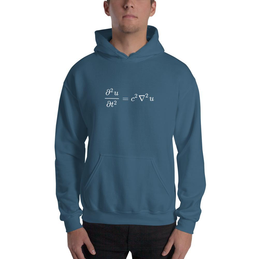 Wave Equation Physics Hoodie SciDye Indigo Blue / S