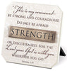Strength: Resin Desktop Plaque with Bronze Title Bar (Joshua 1:9)