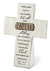 Faith: Resin Desktop Cross with Bronze Title Bar
