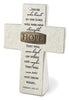 Hope: Resin Desktop Cross with Bronze Title Bar
