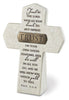 Trust: Resin Desktop Cross with Bronze Title Bar