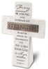 Strength: Resin Desktop Cross with Bronze Title Bar