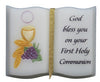 Ceramic Mini Book: First Holy Communion