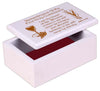 First Holy Communion Wooden Box: White