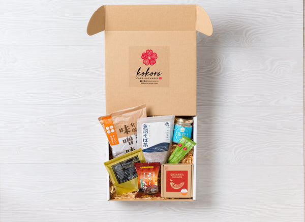 KOKORO CARE PACKAGES: SEASONAL DELIGHTS quarterly subscription box of premium quality Japanese foods delivered straight from Japan to your door