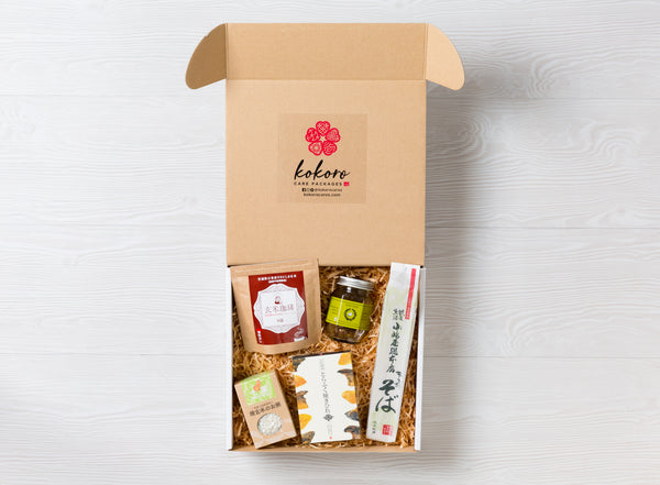 KOKORO CARE PACKAGES: NOURISHING ESSENTIALS monthly subscription box of premium quality Japanese foods delivered straight from Japan to your door