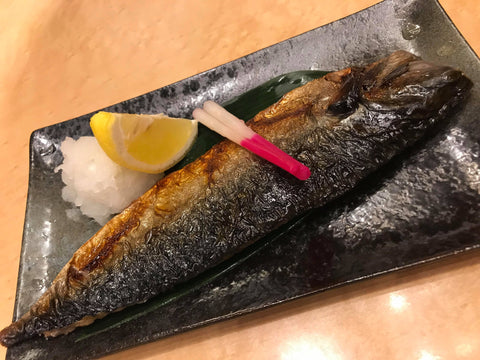 Grilled fish Japanese food