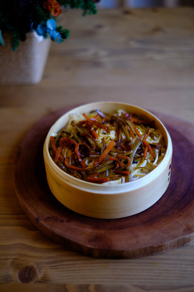 RECIPE: Kinpira Gobo (Braised Carrot & Burdock Root) Chirashizushi (Rice Bowl)