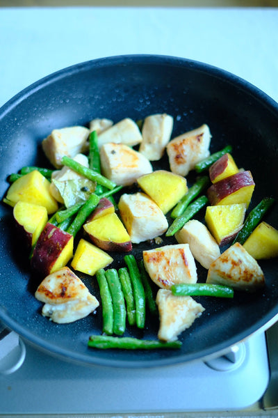 RECIPE: Shio Koji Chicken with Green Beans and Sweet Potatoes