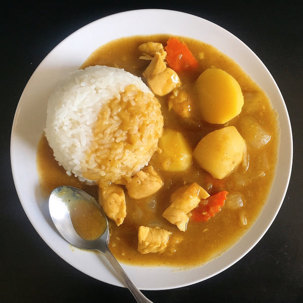 Japanese food: curry rice