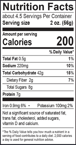 English Nutritional Labels