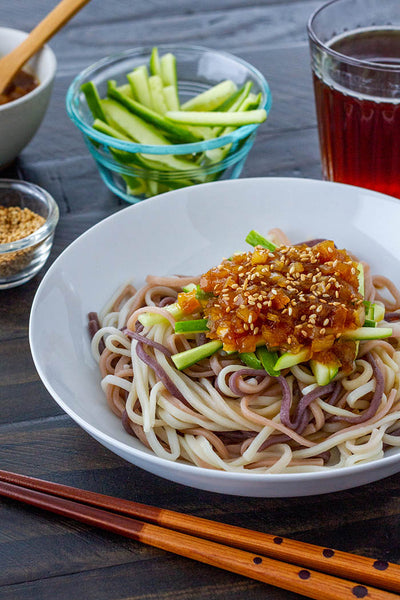 Hiyashi Miso Udon (Chilled Udon Noodles with Miso Sauce)