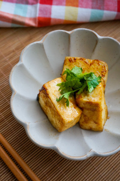 RECIPE: Tofu Steaks with Garlic Butter Soy Sauce