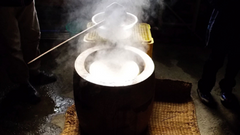 Mochi making in Japan