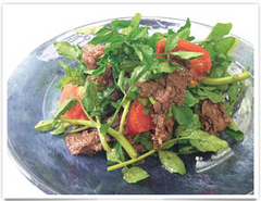 Beef and Watercress Salad with Premium Milky Oyster Sauce