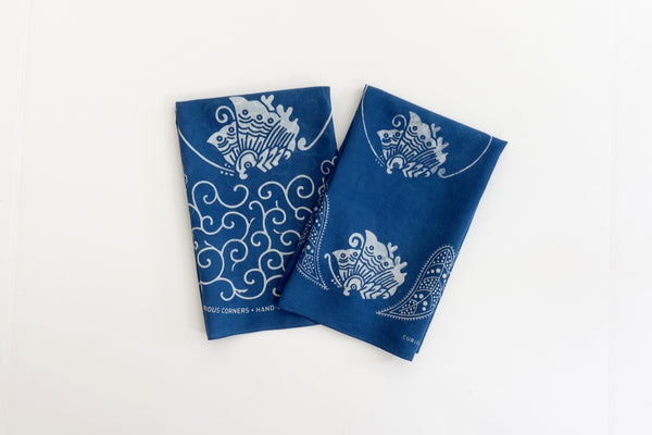 Japanese Indigo bandana from Curious Corners