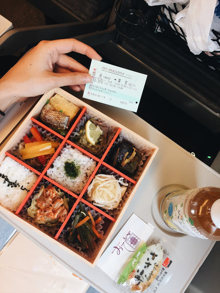 My favorite part about Japan is not only the food, but also how food is experienced. Ekiben is one of my favorite kinds of foods. Being able to dig into a delicious and thoughtfully packed bento while enjoying the scenery flying by.
