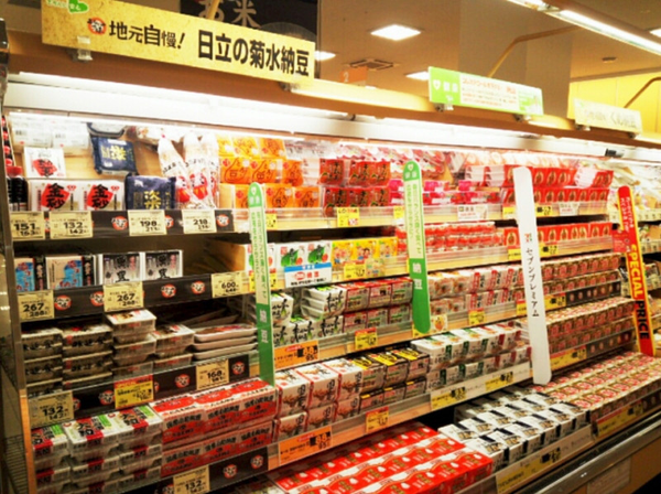 Japanese convenience store selling natto
