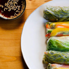 Rice Spring Rolls with Japanese Noodles