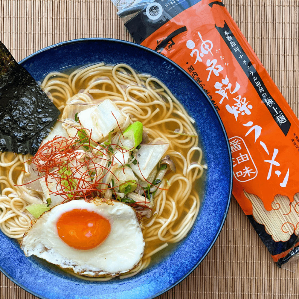NATURAL RAMEN WITH SOY SAUCE BROTH (神名乾燥ラーメン) from Kokoro Care Packages