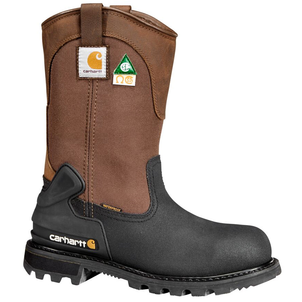 29fc5f6cd64 CARHARTT 11-INCH WATERPROOF INSULATED STEEL TOE PUNCTURE RESISTANT CSA  WELLINGTON