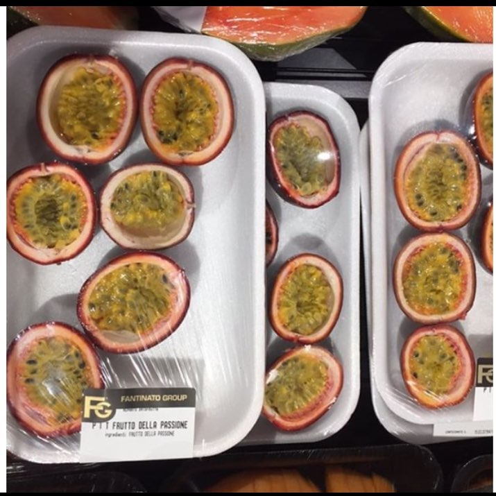 Passion fruit wrapped in plastic